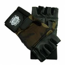 Перчатки с напульсником World Sport