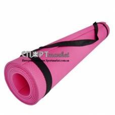 Коврик для фитнеса и йоги 4 мм LU М-0380/0205