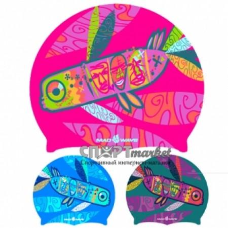 Шапочка для плавания Mad Wave Silicone Printed Fish M0552050 4180