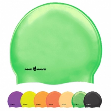 Шапочка для плавания Mad Wave Neon Silicone Solid M0535 02 0 00W 4186