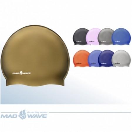 Шапочка для плавания Mad Wave Solid Metal Silicone M053505000W 4365