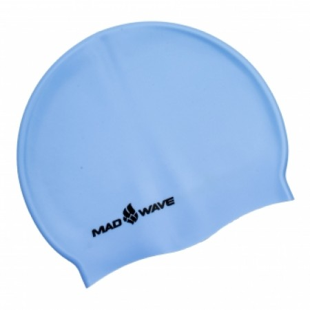Шапочка для плавания Mad Wave Pastel Solid Silicone 4931