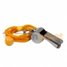 Свисток металлический на шнурке