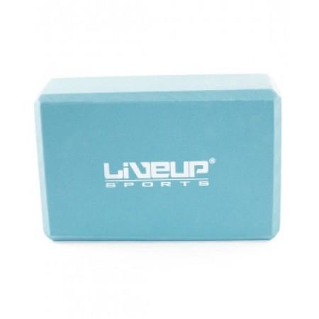 Блок для йоги LiveUp LS-3233 (EVA, голубой) 5314