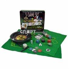 Покерный набор 5 в 1 на 100 фишек