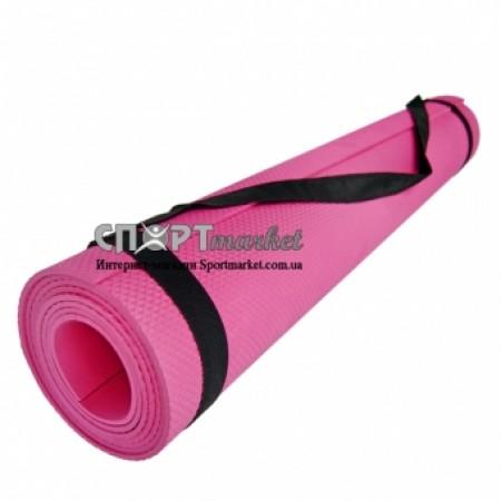 Коврик для фитнеса и йоги 4 мм LU М-0380/0205 4160