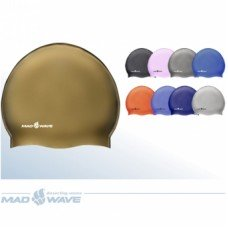 Шапочка для плавания Mad Wave Solid Metal Silicone M053505000W