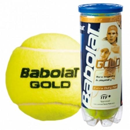 Мячи для тенниса BABOLAT Balls Gold Pet x 3 104161 4540