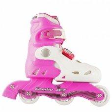 Роликовые коньки раздвижные СК Combo Jet Pink