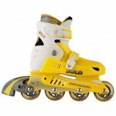 Роликовые коньки раздвижные СК Solo Yellow
