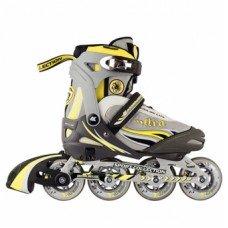 Роликовые коньки раздвижные СК Ultra deLux Yellow
