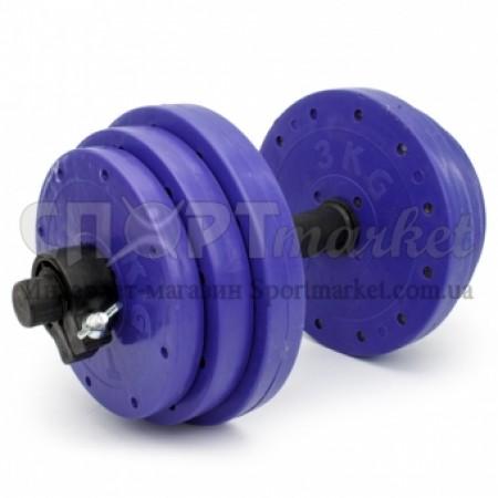 Гантели пластиковые наборные Титан 2шт по 13 кг 4863
