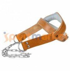 Ремень для качания шеи кожаный Zelart ZB-12021