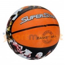 Мяч баскетбольный резиновый цветной