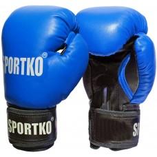 Перчатки боксерские кожаные Sportko ПК1