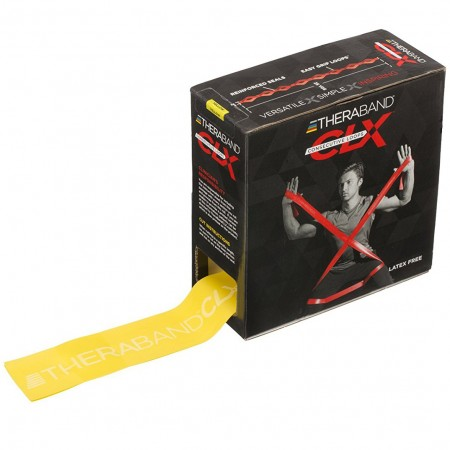 Эспандер-лента с петлями Thera-Band CLX 22,85м Yellow - Thin 12778