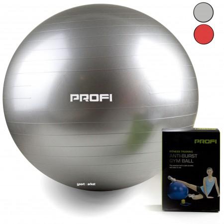 Мяч для фитнеса (фитбол)  с ситемой AntiBurst, Profi 75 см 1541