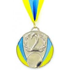 Медаль с украинской символикой C-4339-2 серебро