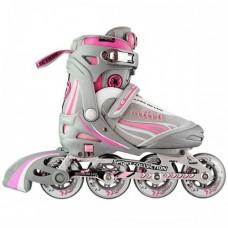 Роликовые коньки раздвижные СК Ultra deLux Pink